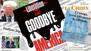European front pages