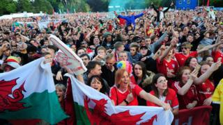 Cardiff's packed out fan zone