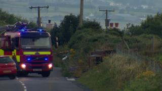 The collision happened near Hilltown at about 18:00 BST on Monday evening