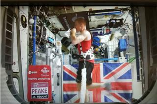 Mr Peake finished in about three hours, 35 minutes