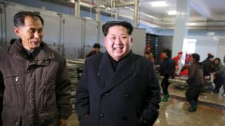 North Korean leader Kim Jong-un gives field guidance to the August 25 Fishery Station
