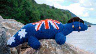Knitted Nessie