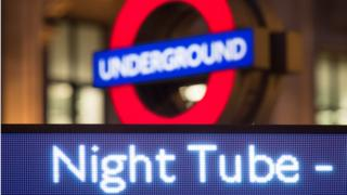 Night Tube sign
