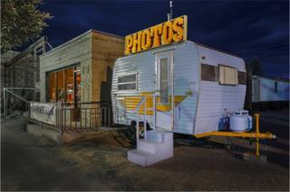 A photo booth caravan