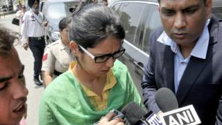 Uzma on arrival in India