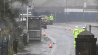 Paisley crash scene