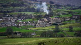A general view of the Yorkshire village of Hawes