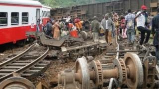 Une photo d'archives d'un accident ferroviaire