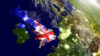 Британские острова. Вид из Космоса