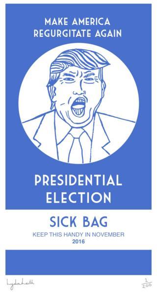 Presidential election sick bag