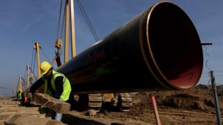 Nord Stream pipeline project in Germany - 2010 file pic
