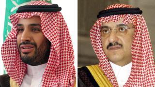 沙特王子萨勒曼和纳耶夫