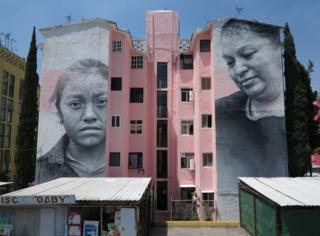 This mural on the outskirts of Mexico City was a response to high rates of violence towards women