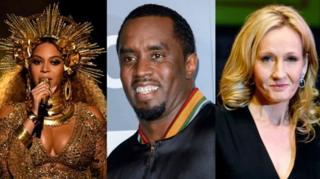 Beyonce, Puff Daddy, JK Rowling