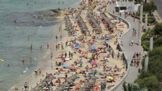 A Spanish beach