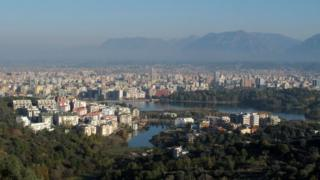 View of the city of Tirana