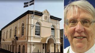 Saltash Town Hall and Councillor Jean Dent