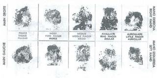 Notice to Interpol showing prints of the Isdal woman's fingerprints