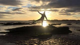 Beth at Carnoustie beach