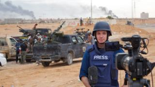 Jonathan Head reporting for the BBC from Libya in 2011