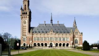 Так виглядає будівля Міжнародного суду ООН у Гаазі