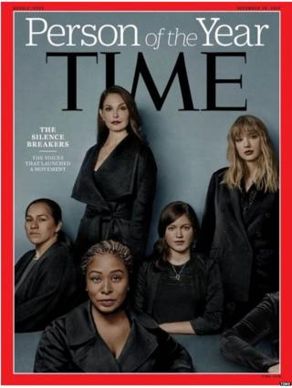 Clockwise from top: Actor Ashley Judd, pop singer Taylor Swift, former Uber engineer Susan Fowler, corporate lobbyist Adama Iwu and Isabel Pascual, a strawberry-picker from Mexico (not her real name)