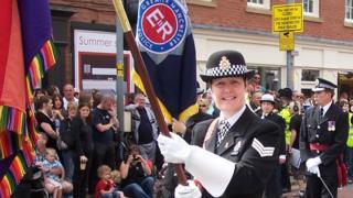 Julie Barnes-Frank: Tributes to police LGBT 'trailblazer'