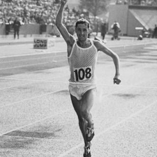 Ron Hill at the Commonwealth Games in Edinburgh