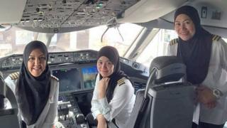 The pilots of the Royal Brunei Airlines Dreamliner