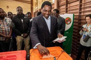 Hakainde Hichilema alipata asilimia 47.63 ya kura