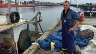 Paul Dent, fisherman working out of Blyth Harbour