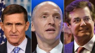 Michael Flynn, Carter Page na Paul Manafort a