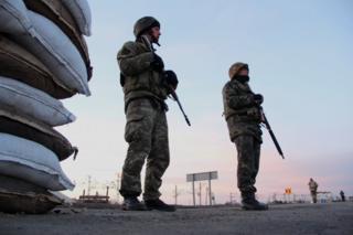 Чонгар находится на границе с аннексированным Крымом