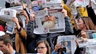 Striking journalists