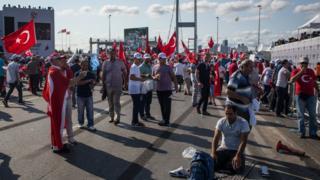 Köprüdeki milli birlik yürüyüşü
