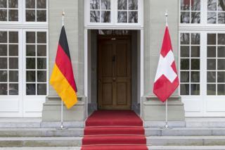 德瑞两国国旗