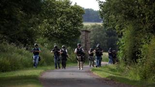 Armed police on an operation