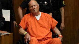 Joseph James DeAngelo, 72, appears at his arraignment in California Superior court in Sacramento