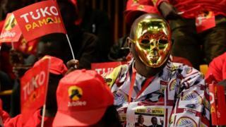 Umunsi umwe mbere cyari igihe cy'abakunzi b'ishyaka riri ku butegetsi Jubilee Party.