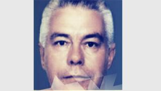 Luiz Carlos da Rocha with white hair in a handout photo from police