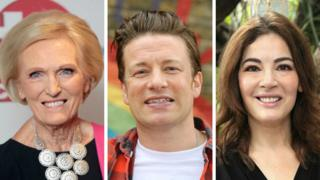 Mary Berry, Jamie Oliver and Nigella Lawson