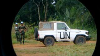 UN vehicle in Liberia