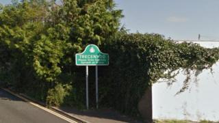 Trecenydd town sign