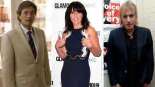 Nigel Havers, Davina McCall, Rhys Ifans
