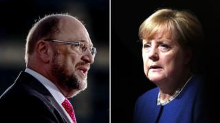 Martin Schulz iyo Angela Merkel ayaa ah labada musharaxa ee ugu waa weyn dadka tartamaya
