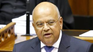 Pravin Gordhan in parliament in Cape Town on 26 February 2014