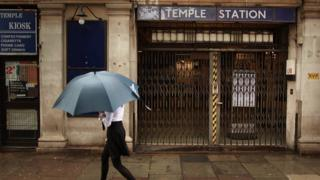 Temple Station closed in 2009 for a strike