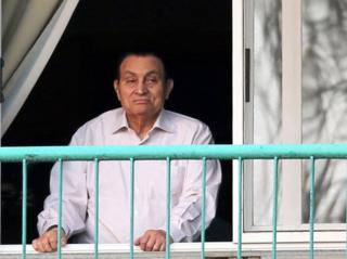 El expresidente egipcio Hosni Mubarak en el hospital de Maadi, en El Cairo, el 6 de octubre de 2016.
