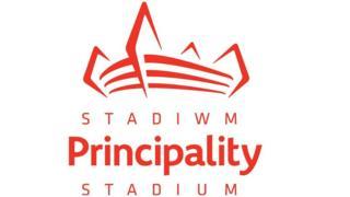 Logo newydd stadiwm Principality