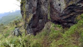 Un site où des fosses communes ont été dissimulées près de Goma